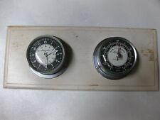 Vintage Airguide Marine Clock & Marine Barometer Mounted on Wood Plaque Chicago
