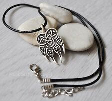 Plata Antigua PLT Nordic collar Colgante garra de lobo, señoras para Hombre Regalo Viking