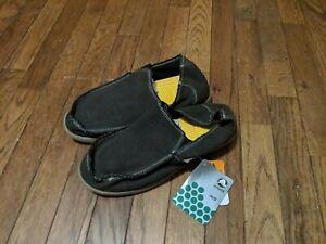 Crocs Santa Cruz Slip On Canvas Black / Khaki Loafers Mens Sz 9 M