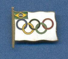*Olympic Games BRASIL NOC c1950s OFFICIAL enamel pin Badge