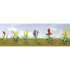 """JTT Scenery Assorted Flower Plants 2, 1"""" Wide, O-Scale 10/pk 95560"""