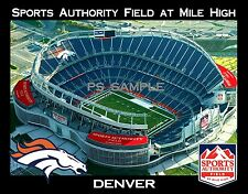 Denver - SPORTS AUTHORITY FIELD AT MILE HIGH - Broncos - Flexible Fridge Magnet