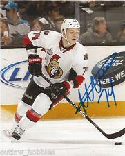 Ottawa Senators Mark Borowiecki Signed Autographed Photo 8x10 COA A