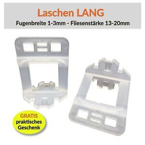Zuglaschen Fliesen Verlegehilfe Nivelliersystem Levello Lang Laschen 1-3mm