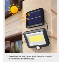 Lampe Solaire Applique murale 120 LED PIR éclairage Spot Lumière pour Extérieur