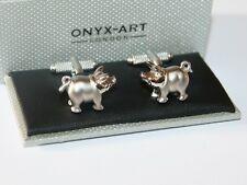 Para Hombre Novedad Cufflinks-diseño de cola de cerdo con Rizado - * En Caja * Nuevo