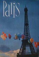 PARIS FRANCE TOUR EIFFEL TOWER 1967 Vintage TOURISM TRAVEL poster 21x30 MINT