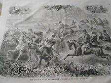 Gravure 1866 - Une chasse au Renard dans le comté de Sussex