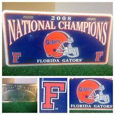Florida Gators NCAA 2008 SEC Football National Champions Metal Tag License Plate
