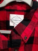 St. Johns Bay Red Plaid Flannel Mens Size XL Shirt * mbc*