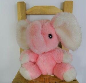 Vintage Russ Berrie Horton 1978 vintage Pink Elephant Plush Stuffed Animal Toy