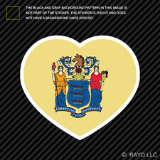 New Jersey Heart Sticker Self Adhesive Vinyl NJ love hearts pride native