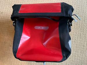 Ortlieb City 2 x red pannier bags & aluminium rear carrier