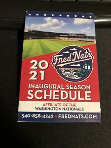 2021 Fredericksburg Nationals Baseball Pocket Schedule Nationals Aff 1st Year