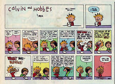 Calvin and Hobbes by Bill Watterson - color Sunday comic page - October 16, 1994