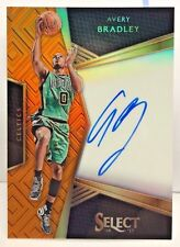 Avery Bradley 2016-17 Panini Select Signatures ORANGE Prizms on-card Auto #'d/60