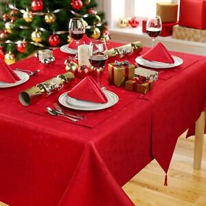 Celebright Christmas Tablecloth & Napkins - 4-8 Dinner Settings Snowflake Design