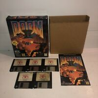 "UNTESTED 1994 DOOM II 2 Big Box PC Game with 3.5"" Diskettes IBM Floppies Vintage"