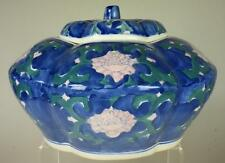 Blue Floral Casserole Dish or Pumpkin Shaped Ornamental Bowl with Lid VA20