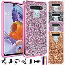 New listing For Lg Stylo 6 Lm-Q730Tm Case, Luxury Glitter Bling Phone Cover w/ Accessories