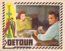 DETOUR VIntage Original Lobby Card FILM NOIR Tom Neal Ann Savage Gambling