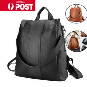 Mens Women Large Capacity Black Backpack Nylon Laptop Notebook School Travel Bag