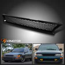 For 93-97 Toyota Corolla ABS Black Front Bumper Hood Mesh Grill Grille