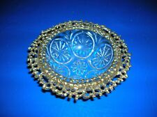 Vintage Glass Ormolu Celeste Bowl