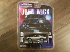 GREENLIGHT 1/64 JOHN WICK 1969 FORD MUSTANG BOSS 429 DIECAST CAR 44780-E CHASE