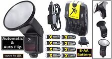 Auto Flash w/Flip Diffusor+8AA Battery For Nikon D60 D70 D70s D300 D300S D80 D90