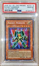 Yu-Gi-Oh! PSA 10 LOW POP 'Rocket Warrior' - CT2-EN005 - SECRET RARE LIMITED ED.