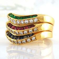 Runde Echtschmuck-Ringe mit Diamant für Damen