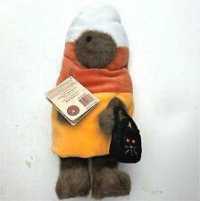 "Vintage Boyds Bears CANDY CORN Halloween Costume Plush Peeker Bear with tags 12"""