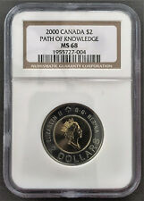 Canada 2000 $2 Path of Knowledge NGC MS68 2nd Finest Graded
