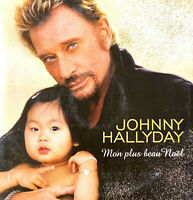 Johnny Hallyday ‎CD Single Mon Plus Beau Noël - France (VG+/VG+)