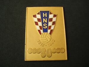 Croatian Football Federation, HNS, 80 years commemorative plaque, 1912 - 1992