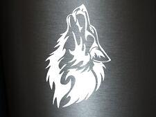 1 x 2 Plott Aufkleber Böser Wolf Angry Wolfshund Sticker Tuning Autoaufkleber