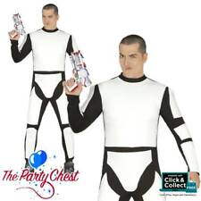 ADULT SPACE SOLDIER TROOPER COSTUME Mens Space Star Wars Type Fancy Dress Outfit