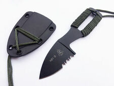 Survival Tactical Neck Knife & Sheath Serrated Knives