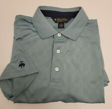 Brooks Brothers Polo Golf Shirt Men's Large Green Argyle Short Sleeve EUC!
