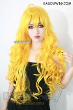 RWBY yellow Yang Xiao Long 85cm long yellow curly cosplay wig with ahoge