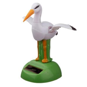 Stork solar pal Novelty solar powered moving flapping bird figure ornament