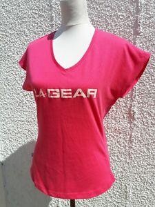 LA Gear Ladies Size 12 Pink Fitness Tunic Top Cotton Mix Sports Run Walk Wear