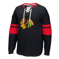 -  Chicago Blackhawks Adult CCM Long Sleeve Jersey Crew - Black