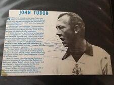 JOHN TUDOR NEWCASTLE UNITED / STOKE CITY . ORIGINAL HAND SIGNED MAGAZINE PICTURE