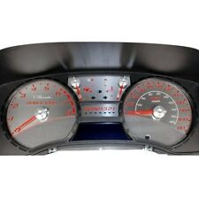 For Chevy Colorado 05-11 Stainless Steel Gauge Face Kit w Red Numbers, 110 MPH