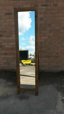 NEW SOLID WOOD RUSTIC FREE STANDING FULL LENGTH DRESS MIRROR MADE TO MEASURE