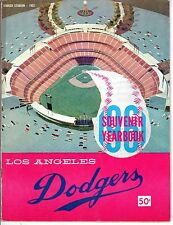 1961 Los Angeles Dodgers Baseball Yearbook magazine Don Drysdale Sandy Koufax~Gd