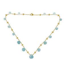 """MARCO BICEGO 18K Yellow Gold Aquamarine Paradise Necklace Size 16"""" »U57 $2180"""
