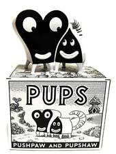 PUPSHAW & PUSHPAW BLACK & WHITE EDITION VINYL TOY FIGURE JIM WOODRING PRESS POP